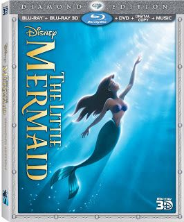 Sugar Pop Ribbons Reviews and Giveaways: Disney The Little Mermaid Diamond Edition Blu-ray and DVD combo Giveaway