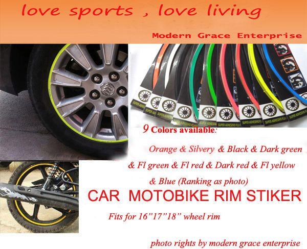 Colors Stripes Wheel Rim Decal Sticker For Car - Modern decal sticker for carmodern car decals modern car stickers car stickers decals