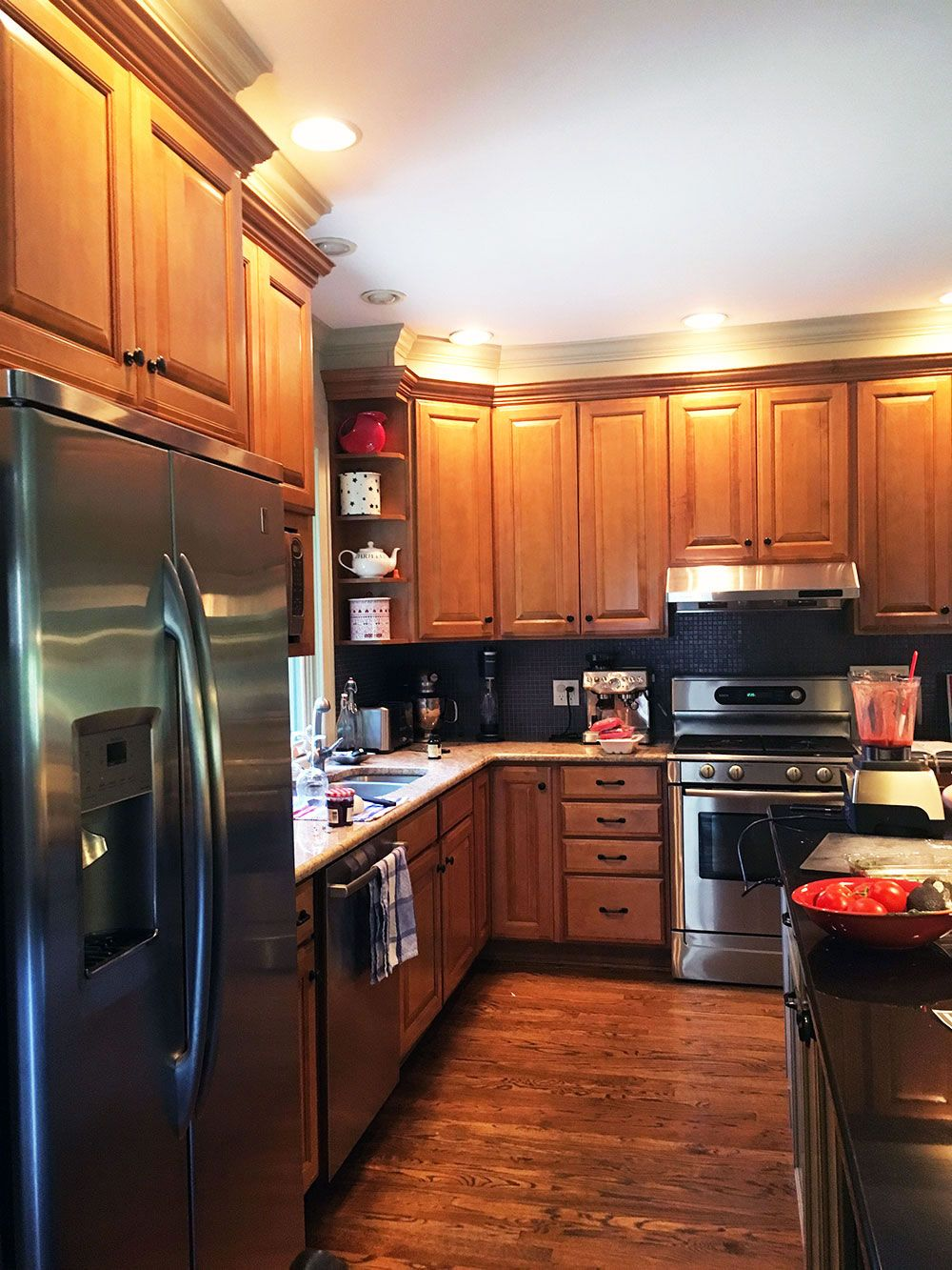 Kitchen Cabinet Refinishing Before Maple Cabinets Vrieling ...