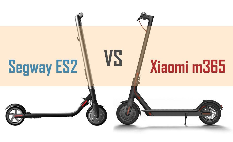 Xiaomi M365 Vs Segway By Ninebot Es2 Es4 Side By Side Comparison