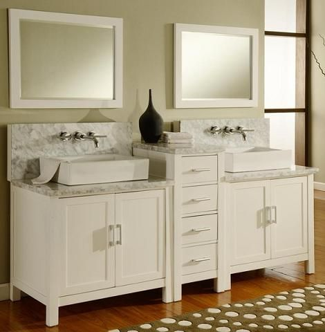 OffTheWall Wall Mounting Systems Bathroom Vanities Built For Wall - Bathroom vanity with wall mounted faucet