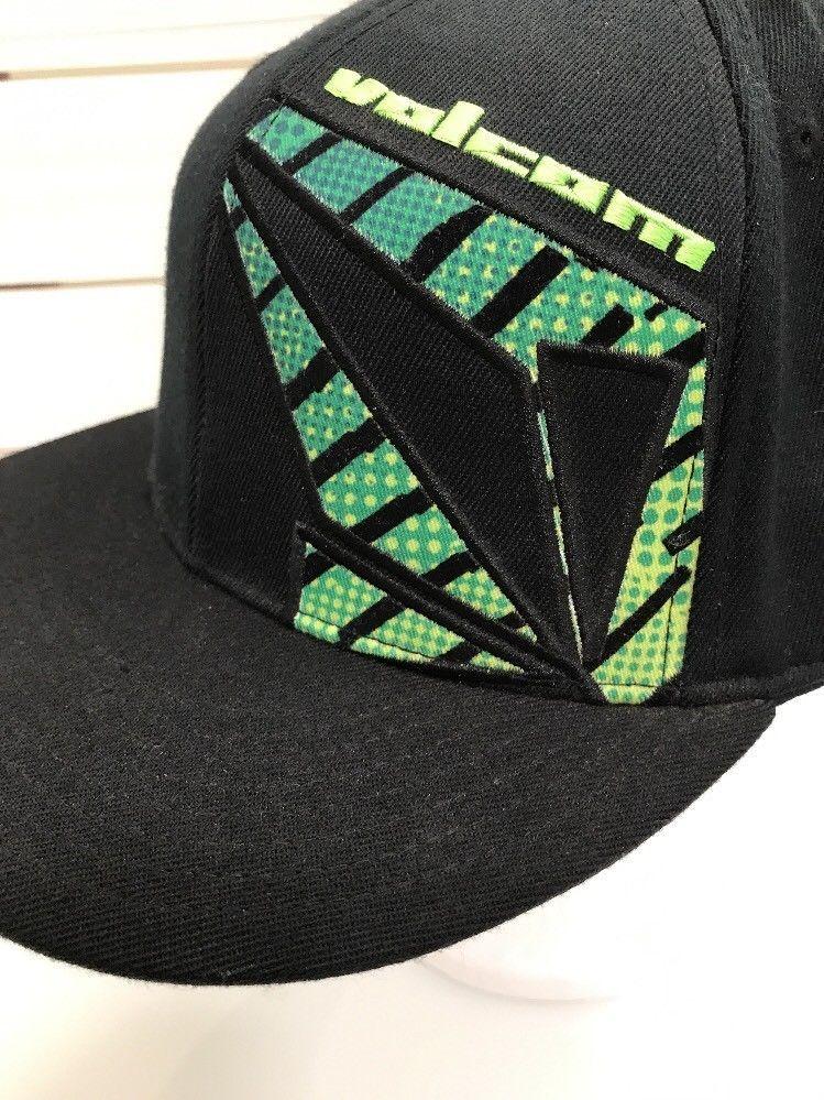 b440cf67c468f Volcom Black Neon Green Fitted Flexfit Wool 7 1 4 - 7 5 8 Flat Bill Skate   210Fitted  BaseballCap