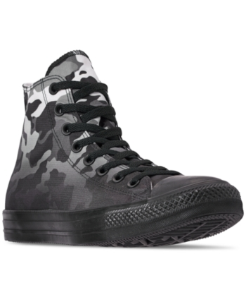 c2ae07cb38ee Converse Men s Chuck Taylor All Star Gradient Camo High Top Casual Sneakers  from Finish Line - White 11