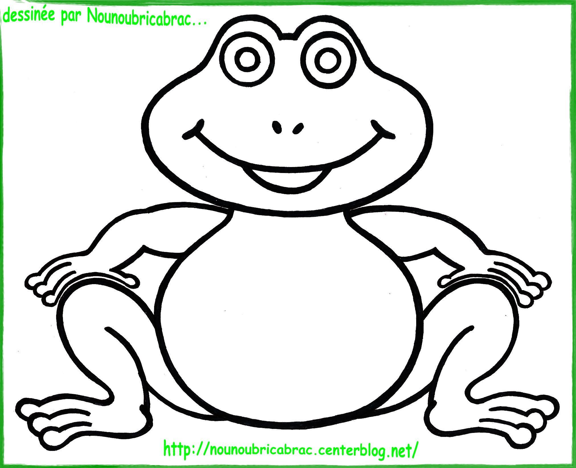 dessin simple d'une grenouille
