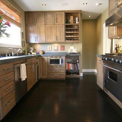 Dark Wood Floor Kitchen Design, Pictures, Remodel, Decor and Ideas
