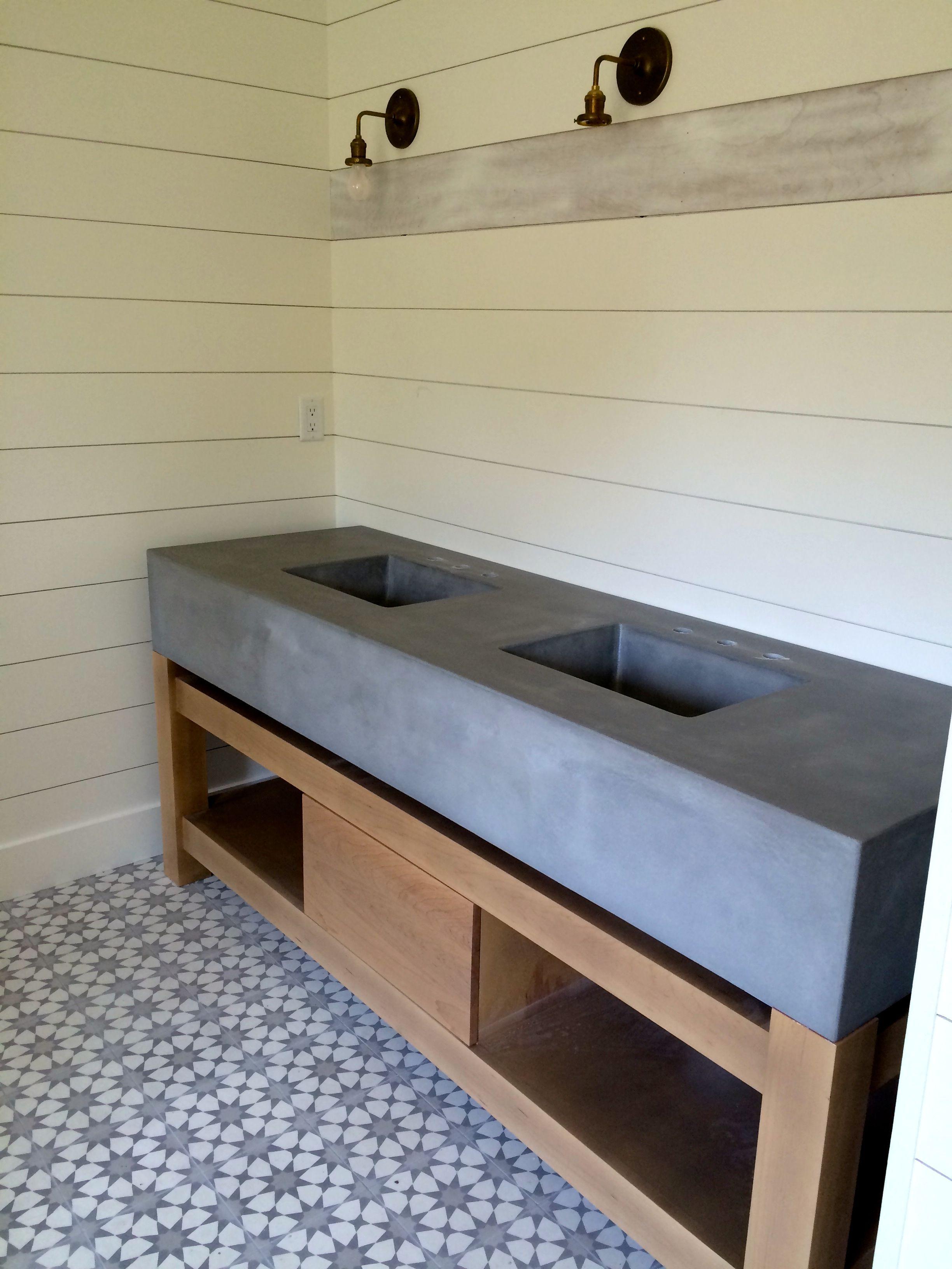 Customized Concrete Bathroom Sinks and Vanities ...