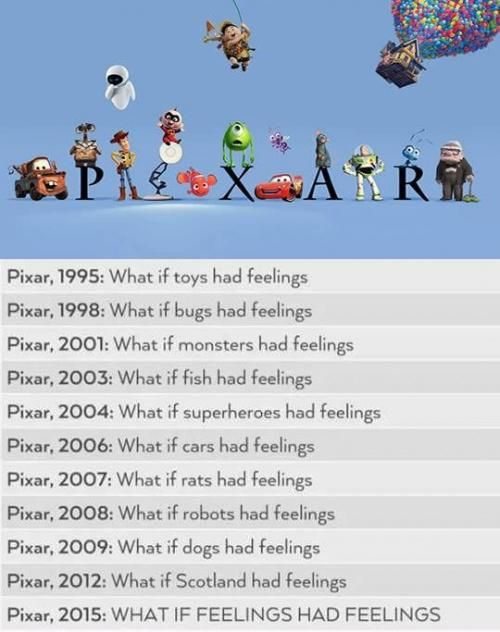 Everything has feelings. | Pixar
