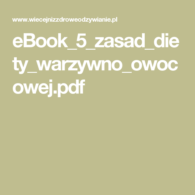 Pin Na Dieta Warzywno Owocowa