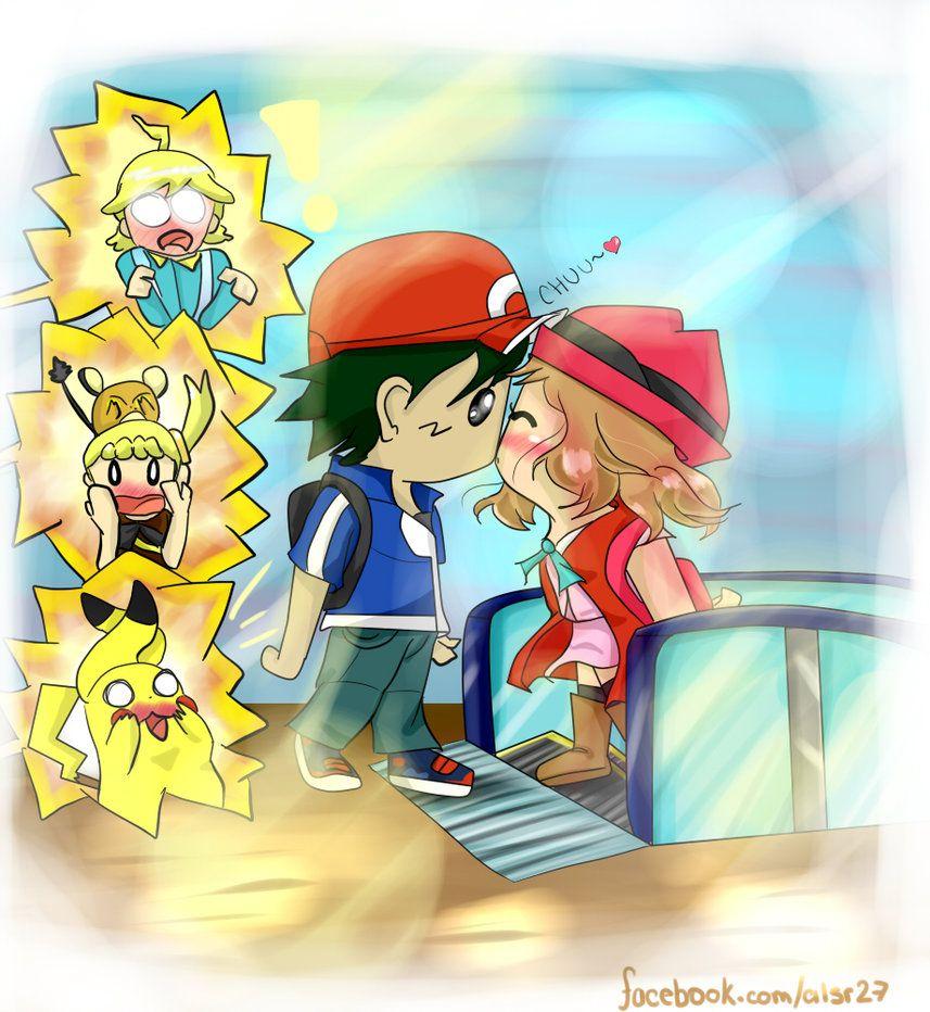 serena pokemon ash kiss wwwpixsharkcom images