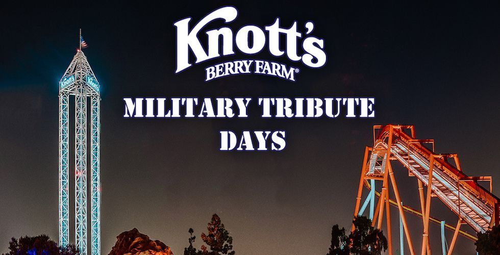 Knott S Berry Farm Offering Free Admission To Military Personnel