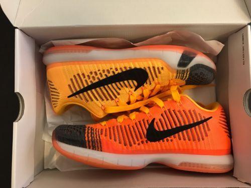 Nike Kobe X 10 Elite Low Chester Orange Black Yellow Basketball Shoes Size 9.5 https://t.co/QiBpw2U6ac https://t.co/jM5dN5vErk