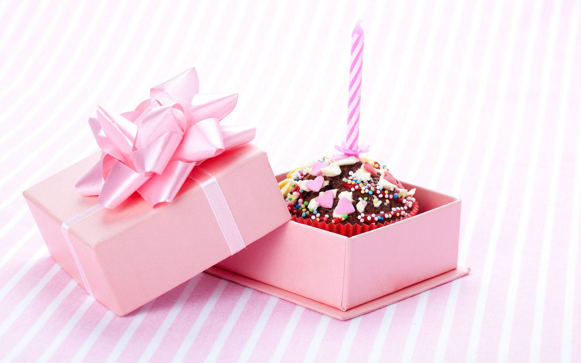 Birthday Cakes Gifts Images ~ Happy birthday cake in pink gift box hd wallpapers rocks happy
