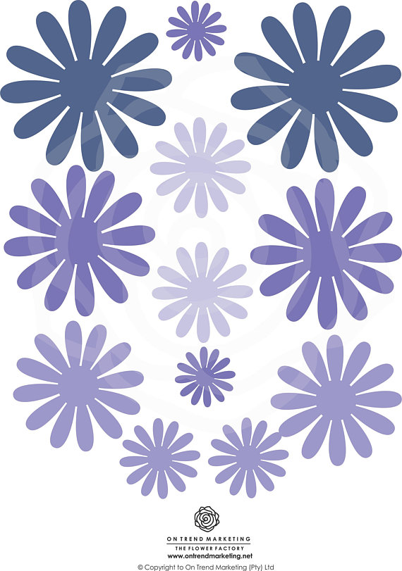 Daisy Centrepiece Small #32 SVG Template - Digital Download - SVG