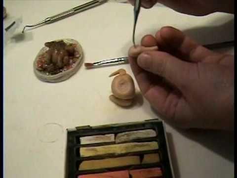 Tutorial: Turkey in Polymer Clay 1:12 miniature by Garden of Imagination Thanksgiving.