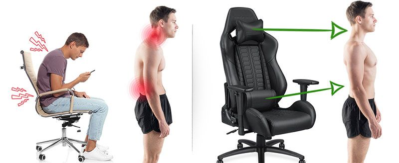 Do Gaming Chairs Really Make A Difference Chairsfx Gaming Chair Good Posture Postures