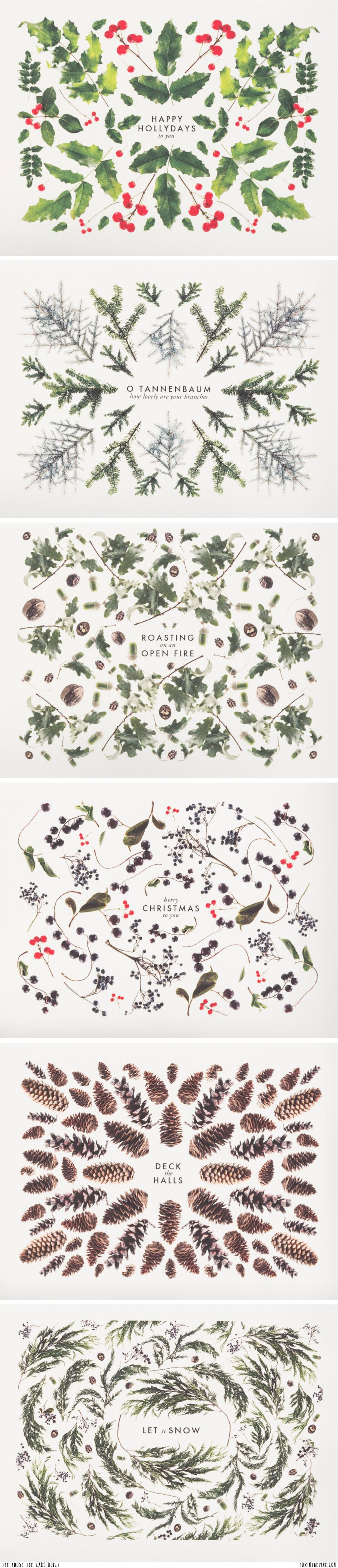 Set of 14 Christmas cards   Pinterest   Christmas cards, Pine and Foxes