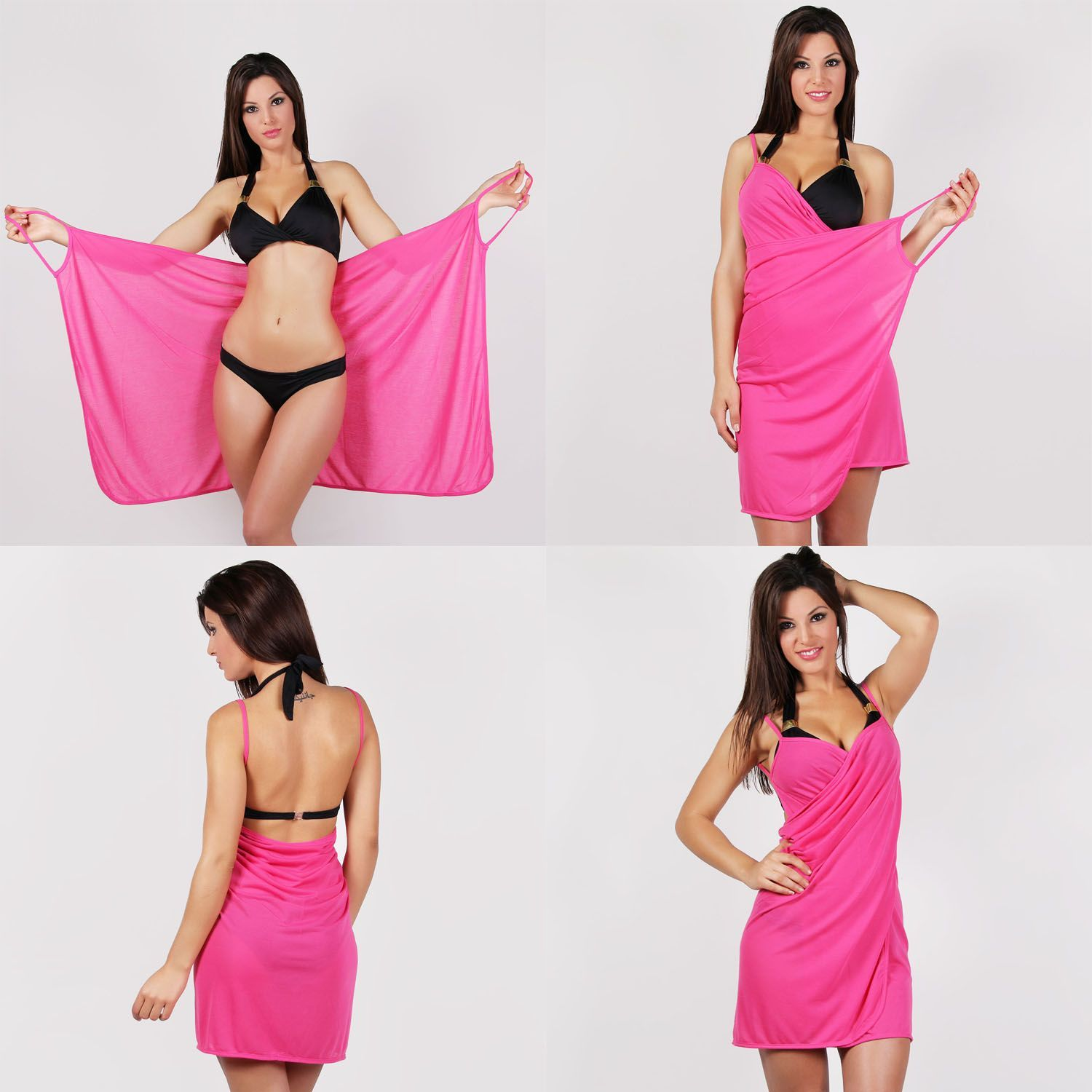 Vestido pareo playero en color rosa | Rosa | Pinterest | Vestido ...