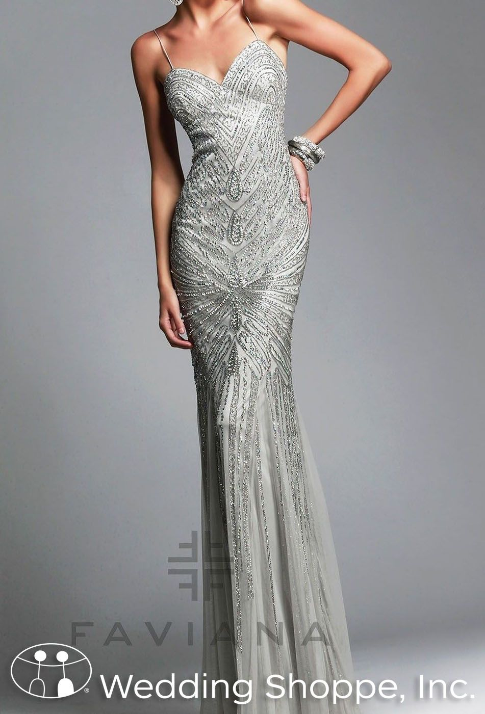 Gorgeous Old Hollywood Inspired Prom Dress