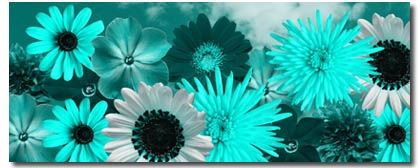 Teal Flowers Canvas Art Beautiful Fl Print In And Duck Egg Blue Original