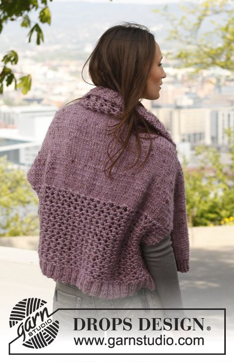 Violet / DROPS 141-27 - Free knitting patterns by