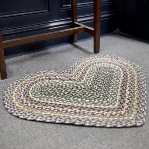 The Braided Rug Company Heart Door Mat Storm From Niche Living Uk