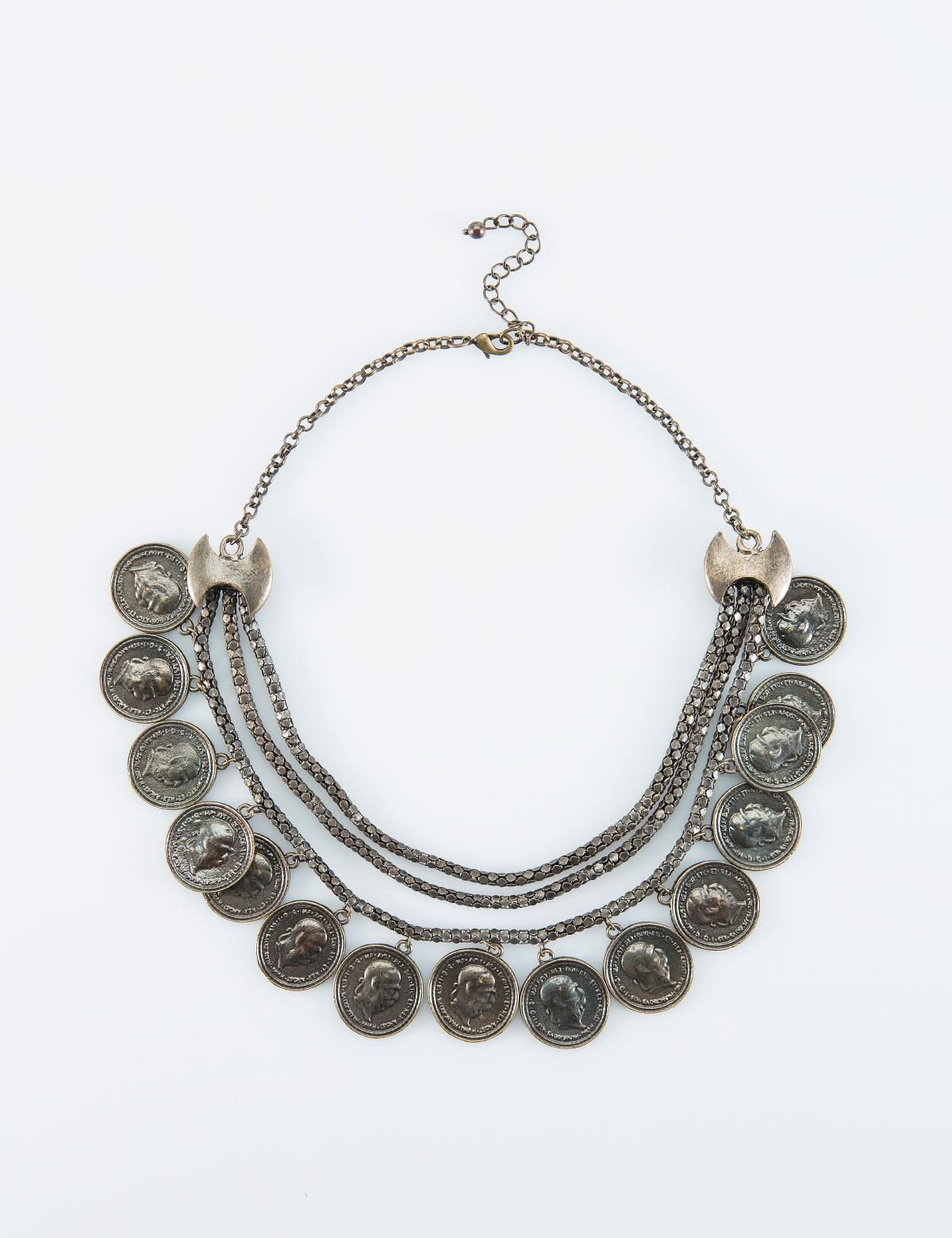 Coin Halsband Massing Necklace Jewelry Smycken Accessoarer Indiska Shop Online Jewelry Necklace Silver