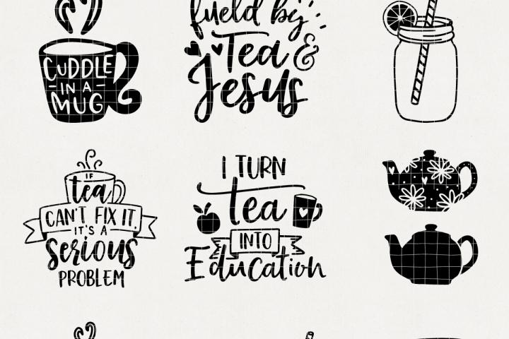 Tea Time Svg Bundle Mb30 126819 Svgs Design Bundles Svg Tea Time Design Bundles
