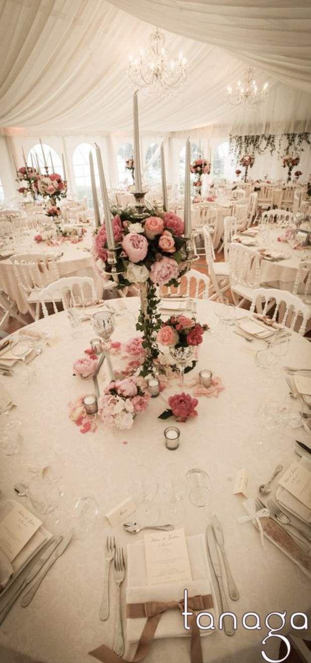 Couleurs GalaSoft et bougeoir en argent: très glamour.   – Wedding