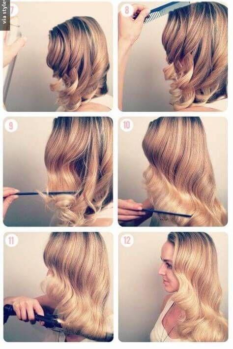 paso a paso peinados con ondas | peinados con ondas | pinterest