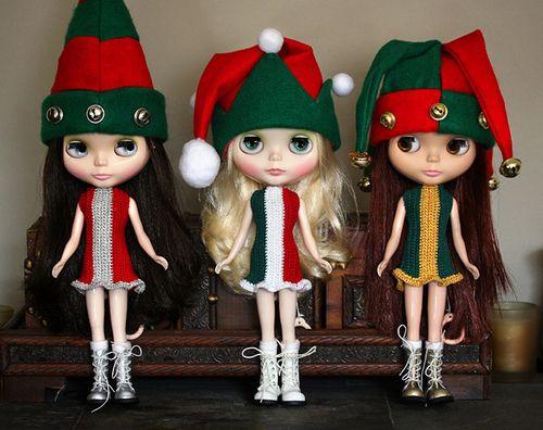 Blythe Christmas elves
