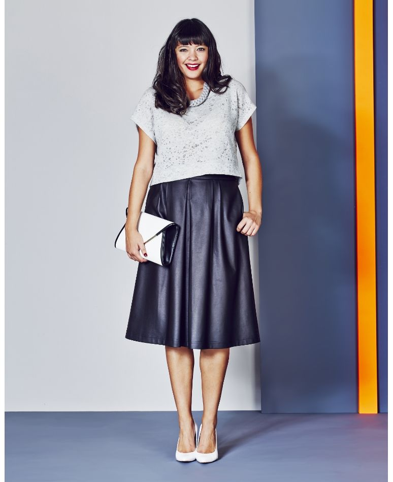 Midi faux leather skirt – Modern skirts blog for you