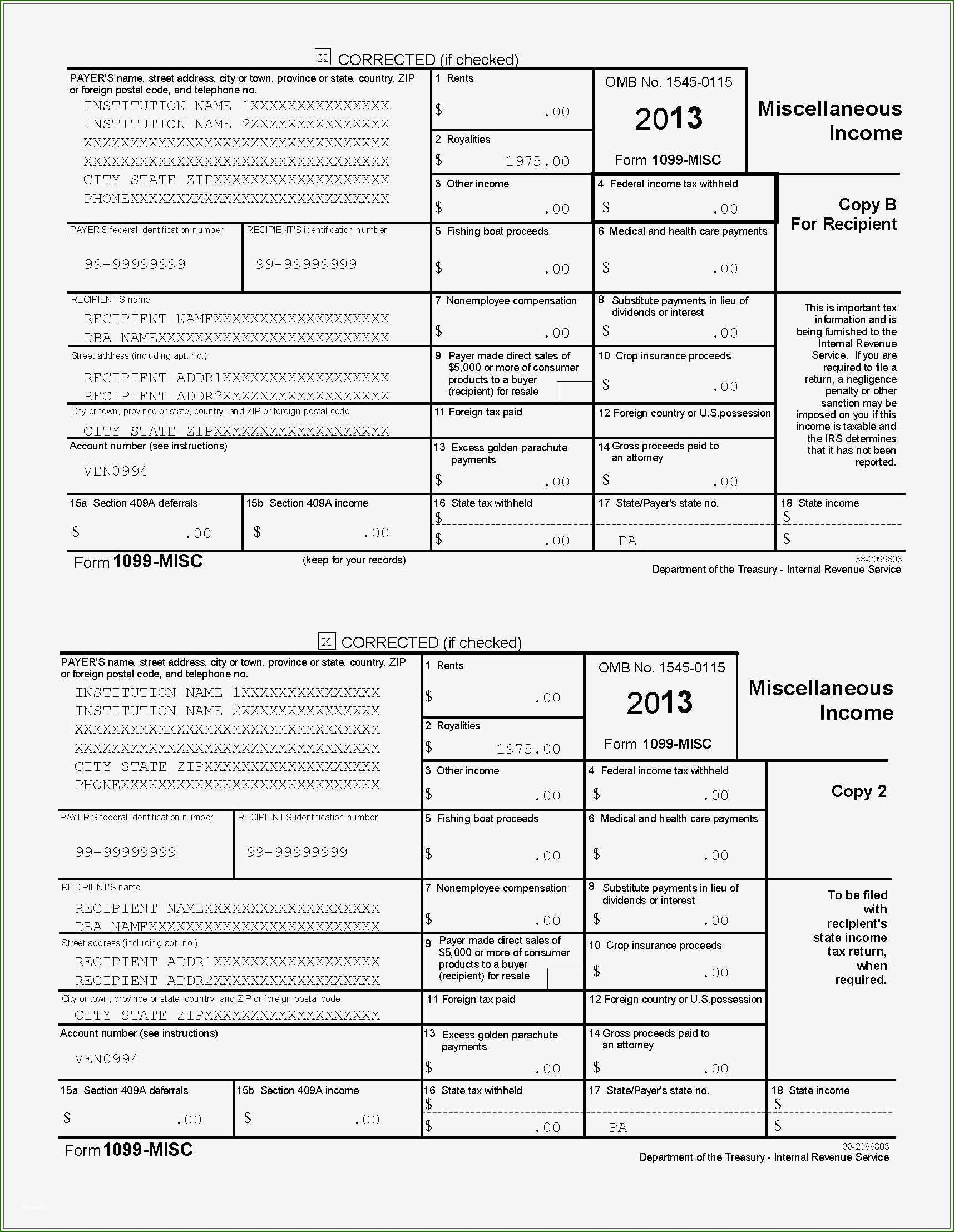 Beautiful 1099 Misc Template For Preprinted Forms 2020 Invoice Template Invoice Template Word Professional Templates 1099 misc template for word