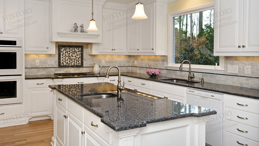 Polished Blue Pearl Granite Countertops Kitchen Granite Cost Granite Kitchens History Granite Countertops Kitchen Kitchen Remodel Countertops Granite Kitchen