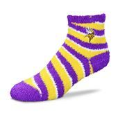 Minnesota Vikings For Bear Feet NFL Candy Cane Sleep Sock. #Vikings #SVSports #FanGear #NFL