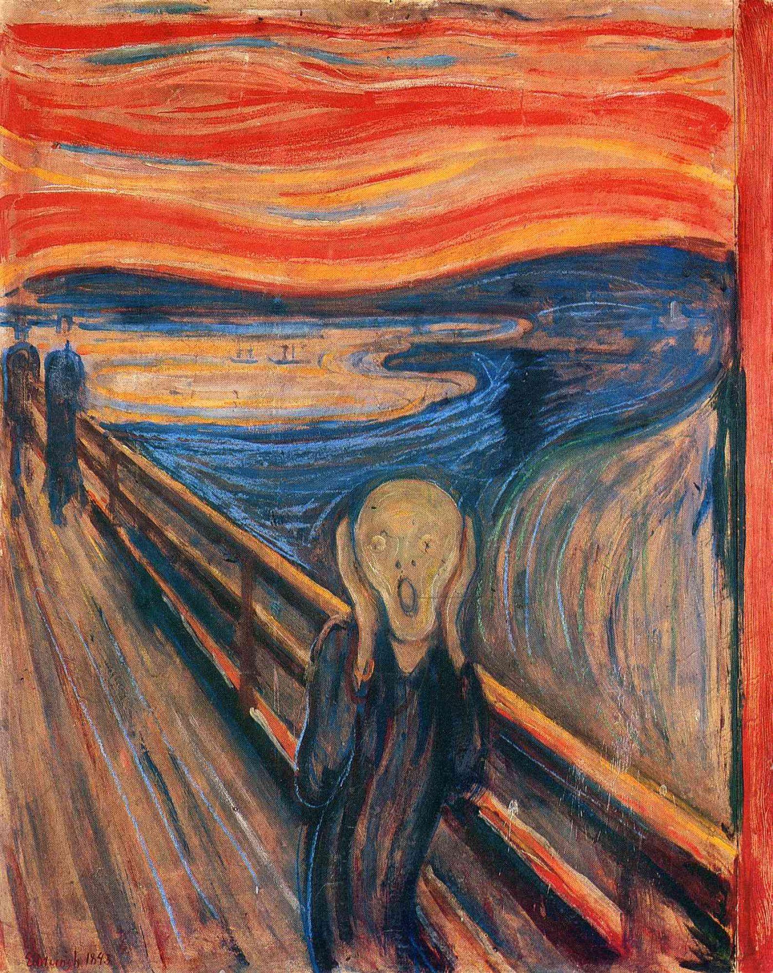 Эдвард Мунк. Крик | Famous art paintings, Scream art