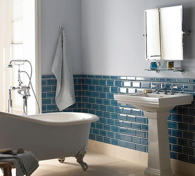Diffusion Ceramique Viktorianisches Badezimmer Badezimmer Blaues Badezimmer