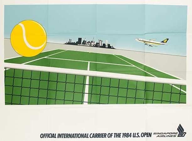 1984 U S Open Poster Vintage Tennis Tennis Open Games
