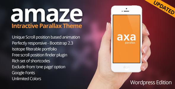 AMAZE - Wordpress Interactive Parallax Theme by designova