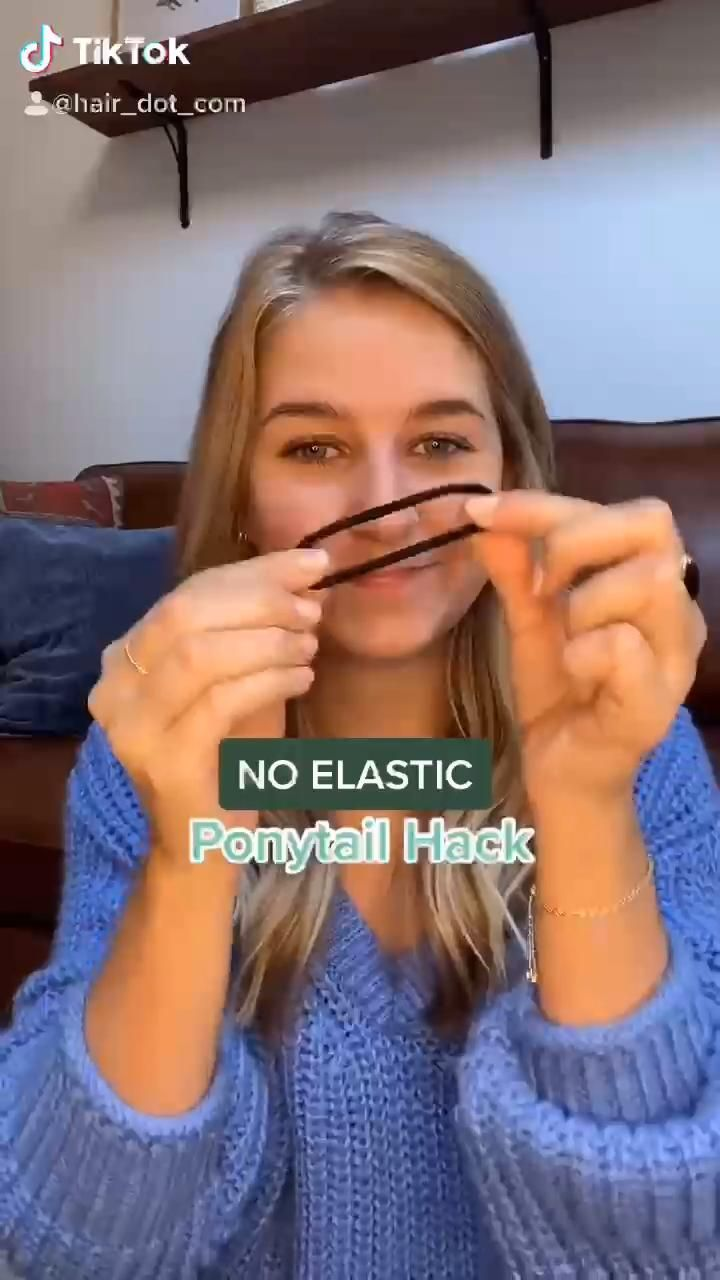 Easy No Elastic Ponytail Hair Hack | Hair.com By L
