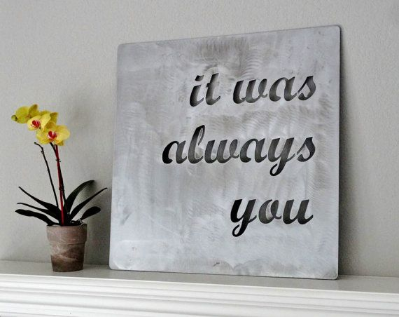 Quote Wall Art custom metal quote sign and sayings, inspirational personalized