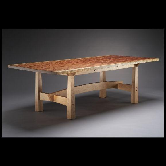 Custom Made Bubinga And Cherry Dining Table Solide Handmade Dining Table Dining Table Outdoor Wood Furniture