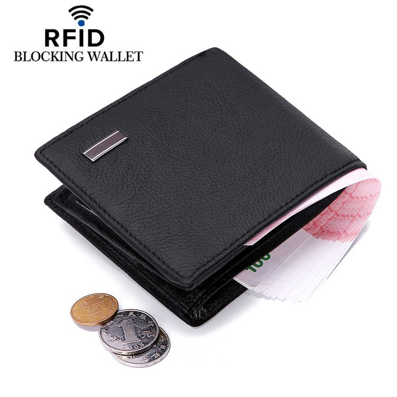 Men\'s Genuine Leather Wallet Business Card Wallet Fashion Zipper ...