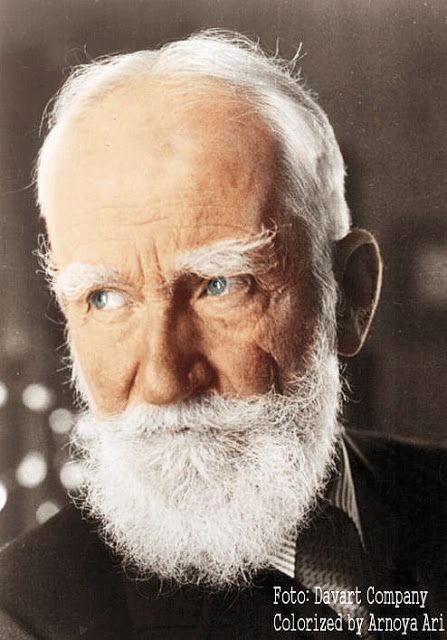 George Bernard Shaw  Colorized