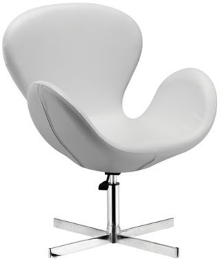 Zuo Cobble White Swivel Chair