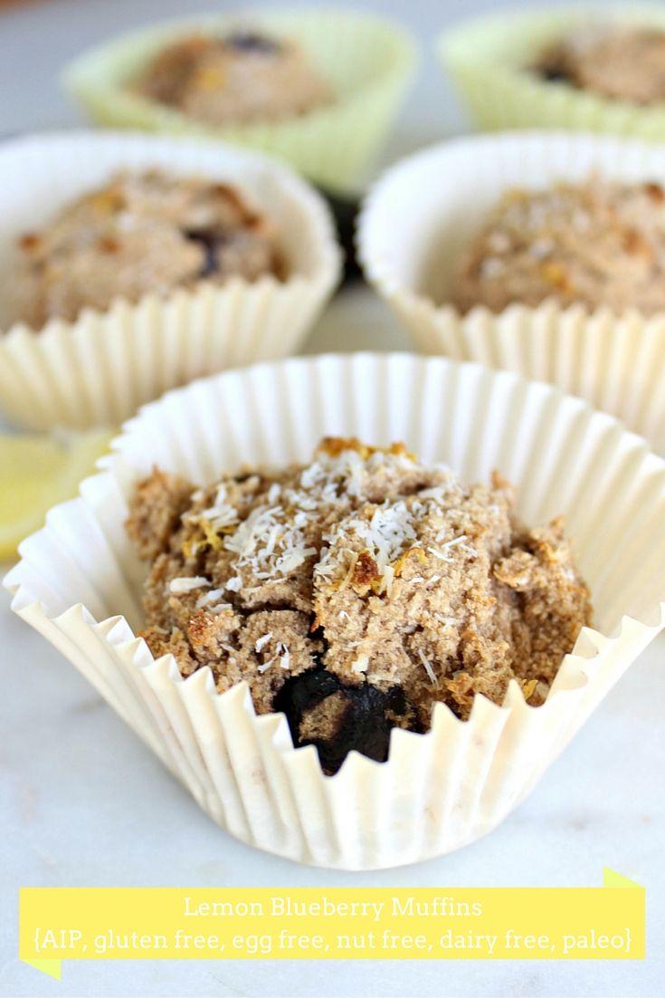 Lemon-Coconut Muffins (Paleo, Egg Free, Nut Free, Gluten