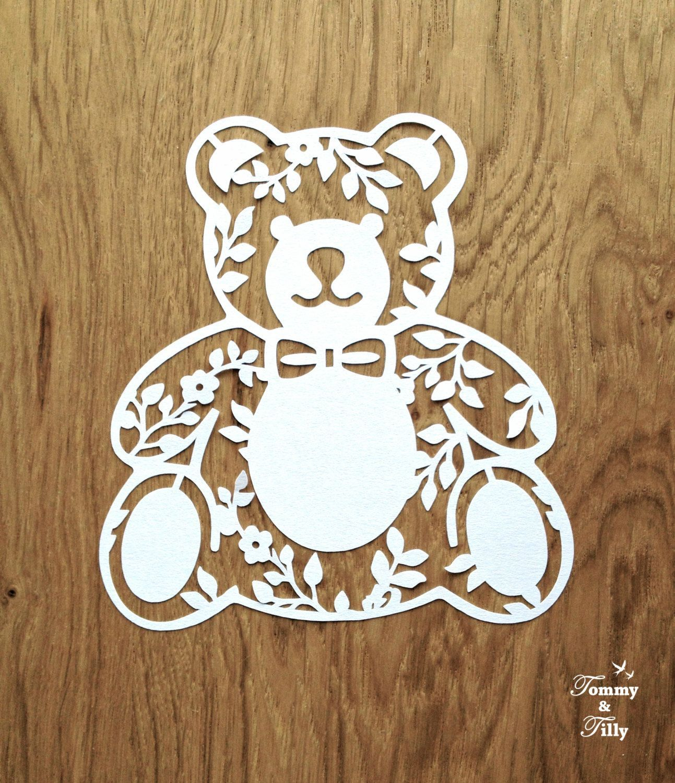 Photo of Teddy Bear x 3 – Papercut Template   Machine Cut   Cricut Silhouette    Svg Dxf Png Jpg Pdf Eps   Clipart   Kids   Nursery   Papercutting