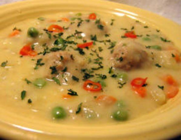 Youvarlakia Avgolemono (Greek Meatball-Egg/Lemon Soup)