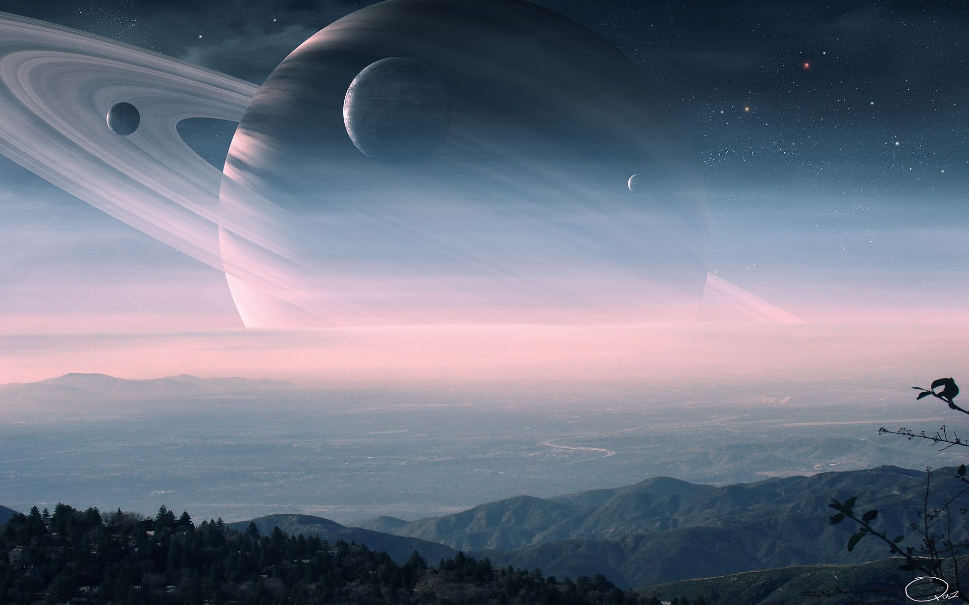 Space Art : Planetary Rings II (Gallery) | Take a Quick Break | Visit our Website for more Pictures