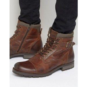 jack  jones albany warm lining leather boots  mens fall