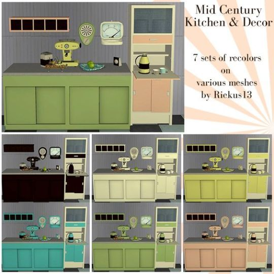 Futuristic Kitchen Stuff: Mid-Century Decor By Riekus13